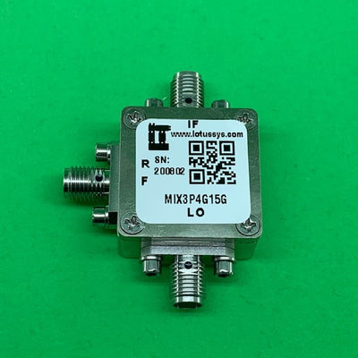 Passive Frequency Mixer (MIX3P4G15G) 3.4G - 15GHz RF and DC - 4 GHz IF