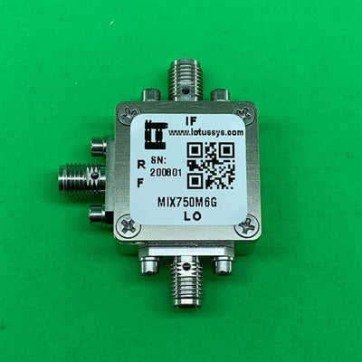 Passive Frequency Mixer (MIX750M6G) 750M - 6GHz RF and DC - 1.5G IF