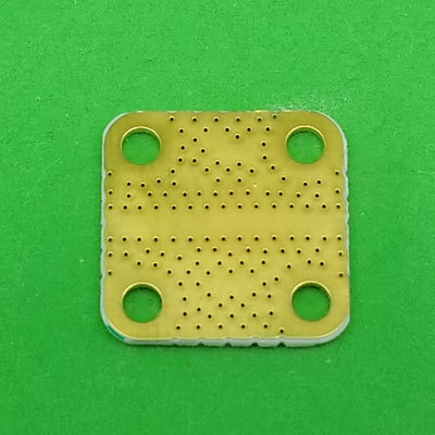 "Develop PCB RO4350 Grounded Coplanar Waveguide (9/16""x9/16""x0.02"") 32Mil Trace"