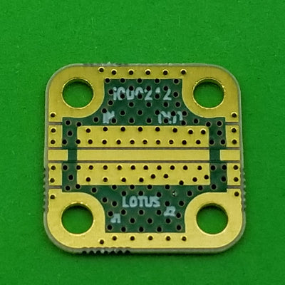 "Develop PCB Grounded Coplanar Waveguide (0.5625""x0.5625""x0.02"") 32Mil Trace"