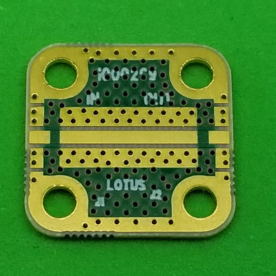 "Develop PCB Grounded Coplanar Waveguide (0.5625""x0.5625""x0.02"") 38Mil Trace"