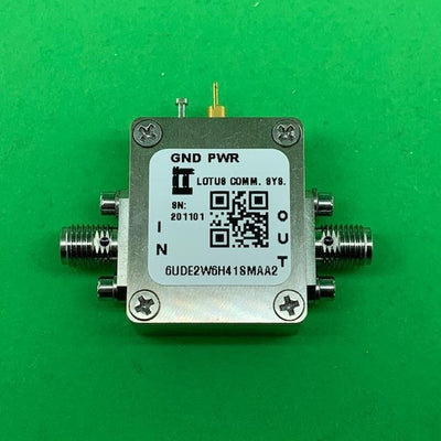 "6UDE2W6H41SMAA2 Enclosure Kit for 0.020""/0.5mm PCB (size 0.5625""x0.75"") 2 SMA Active 0.48"" Height"