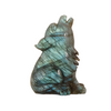 Labradorite Howling Wolf Carving