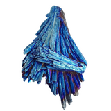 Cobalt Aura Kyanite Fan