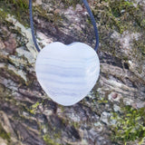Blue Lace Agate Heart Pendant-blue lace agate pendant-A Crystal Affair-afterpay-crystal-shop-Australia-A Crystal Affair