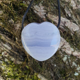 Blue Lace Agate Heart Pendant-A Crystal Affair-afterpay-crystal-shop-Australia-A Crystal Affair