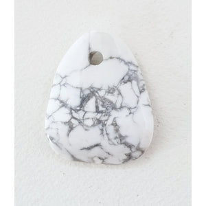 White Howlite Pendant- Australia crystal shop afterpay websiteA Crystal Affair