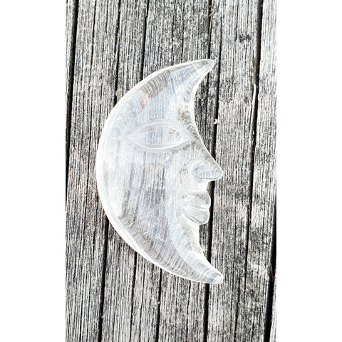 Clear Quartz Crescent Moon