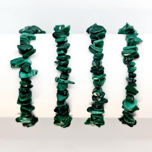 Malachite chip bracelet- Australia crystal shop afterpay websiteA Crystal Affair