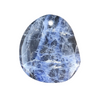 Sodalite Howling Wolf Pendant