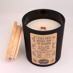 I Stole These Orchids Coconut Wax Candle