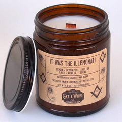 """Get a Whiff Co.'s """" It Was the Illemonati"""" candle."""