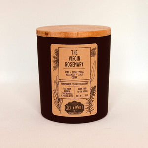 Rosemary & Sage Wood Wick Candle | Fall Candles | Crackling Candle | Coconut Wax Candle | Jar Candle | The Virgin Rosemary
