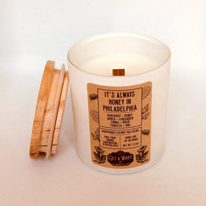 Tobacco & Honey Wood Wick Candle | Sweet Candle | Crackling Candle | Coconut Wax Candle | Jar Candle | It's Always Honey In Philadelphia