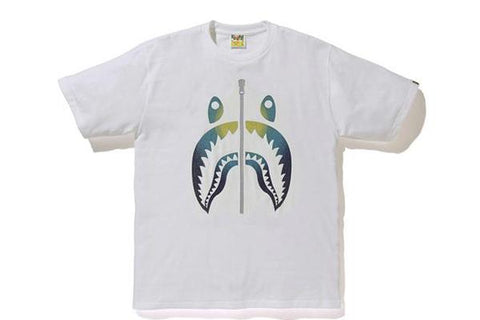 Bape GLASS BEADS GRADATION SHARK TEE White/Blue