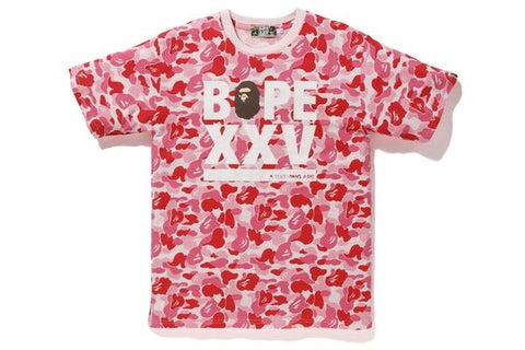 Bape ABC Bape XXV Logo Tee Red