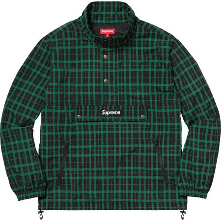 Supreme Nylon Plaid Pullover Green
