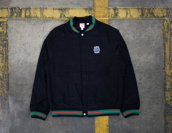 Supreme LACOSTE Wool Varsity Jacket Black