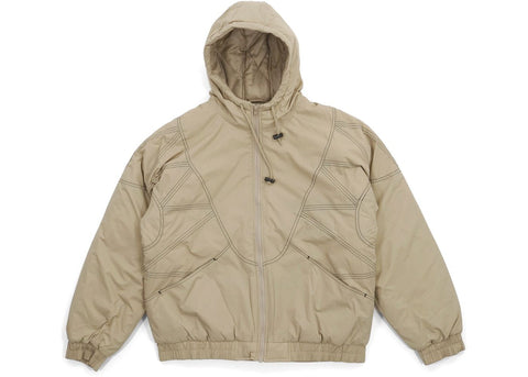 Supreme Zig Zag Stitch Puffy Jacket Tan