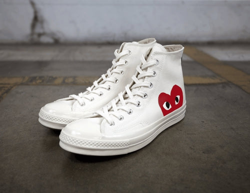 Comme Des Gar??ons Play x Chuck Taylor All Star High White