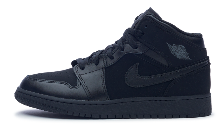 Air Jordan 1 Retro Mid GS 'Black Dark Grey'
