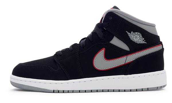 AIR JORDAN 1 MID(GS) 'Black Particle Grey'