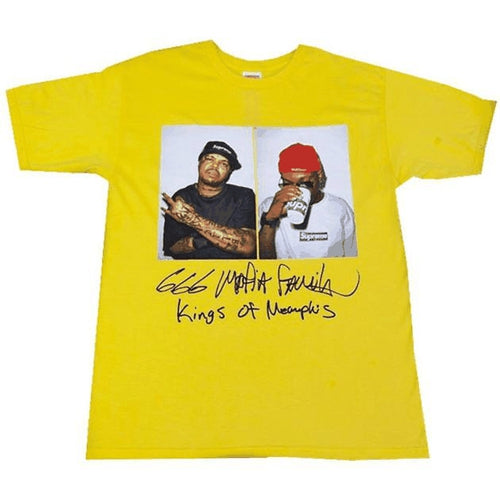 Supreme Three Six Mafia Tee - Yellow