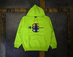 Supreme Champion Stacked C Hooded Sweashirt Green