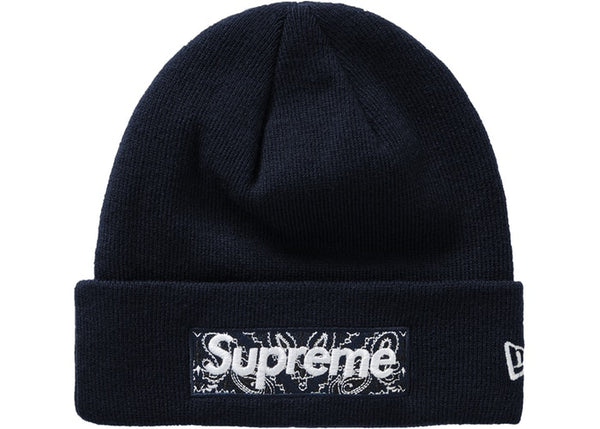 Supreme New Era Box Logo Beanie (FW19) Navy