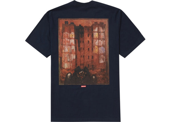 Supreme Martin Wong Big Heat Tee Navy