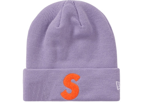 Supreme New Era S Logo Beanie (FW 19) Light Violet