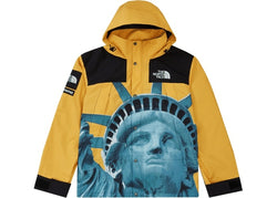 Supreme The North Face Statue of Liberty Mountain Jacket Yellow