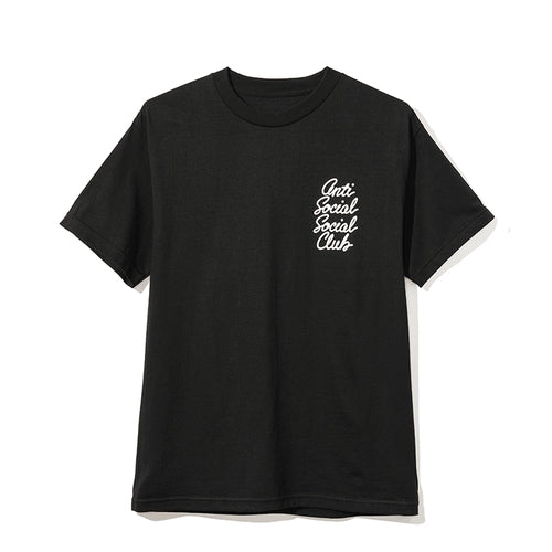 Antisocial Social Club Warp Logo Tee Black White