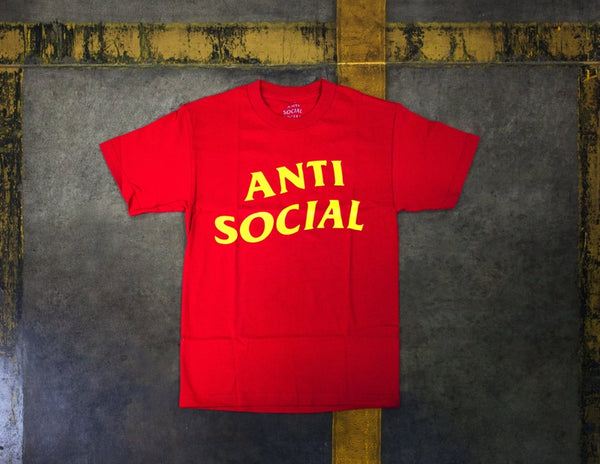 Antisocial Social Club Tee Red/Yellow