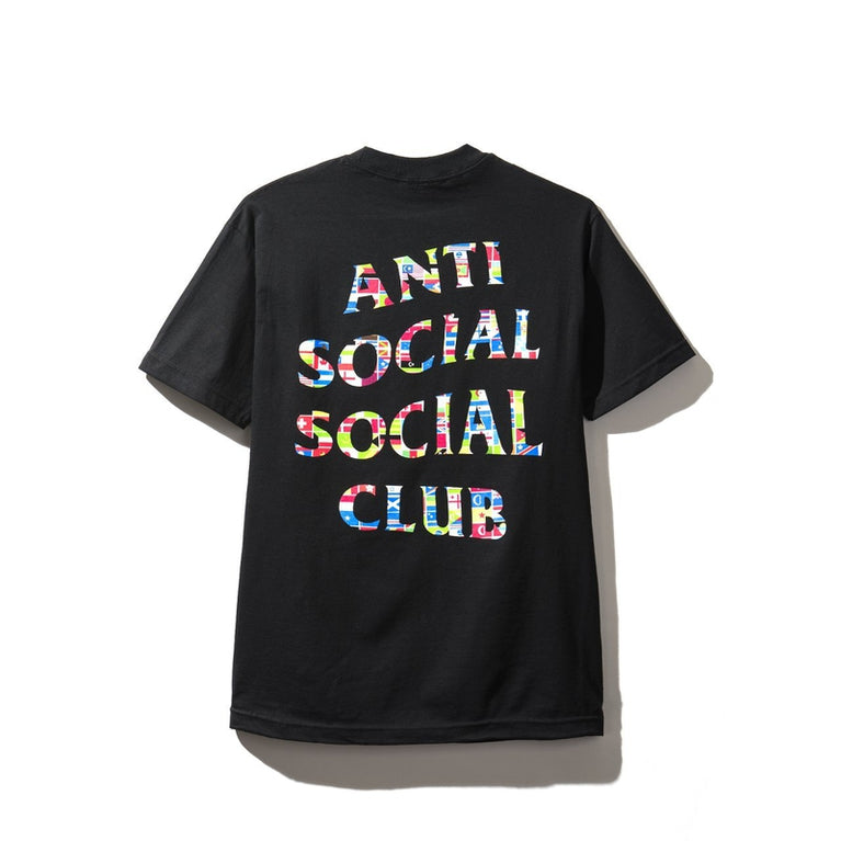 Antisocial Social Club Flag Black Tee