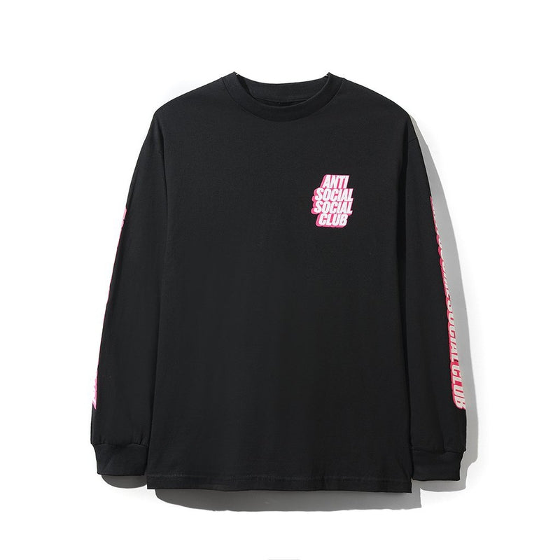Antisocial Social Club Block Me Black Long Sleeve Tee
