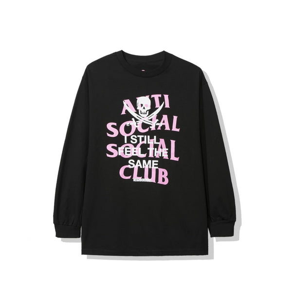 Antisocial Social Club X NEIGHBORHOOD BLACK JACK LONG SLEEVE BLACK TEE