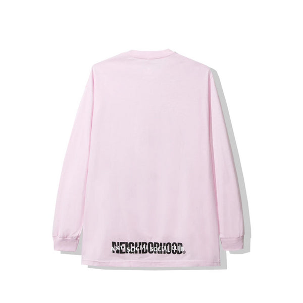 Antisocial Social Club X NEIGHBORHOOD BLACK JACK LONG SLEEVE PINK TEE