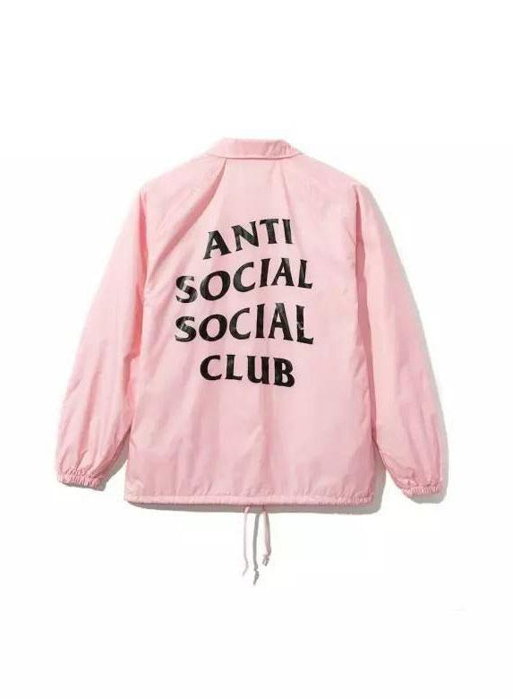 Antisocial Social Club Coach Jacket Pink White