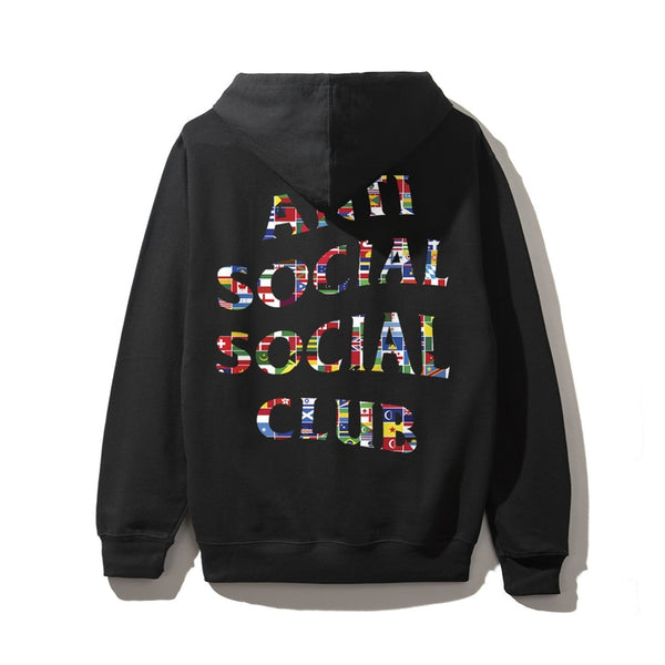 Antisocial Social Club Flag Black Hoodie