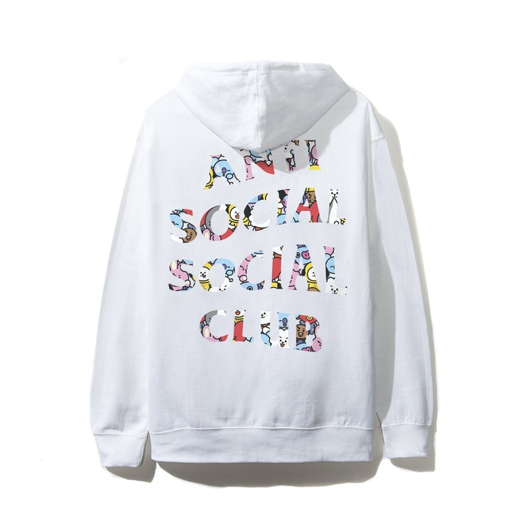 Antisocial Social Club X BT21 Collab - Blended White Hoodie