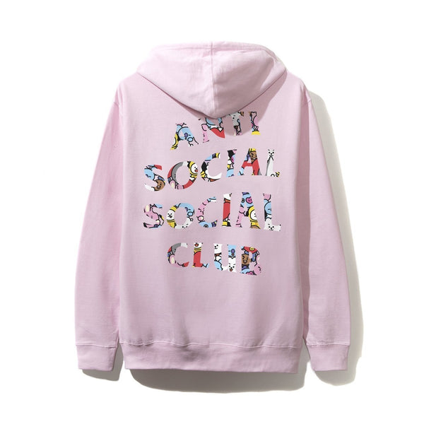 Antisocial Social Club X BT21 Collab - Blended Pink Hoodie