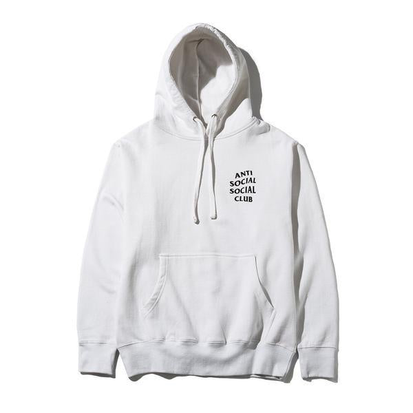 Antisocial Social Club Hoodie White Black