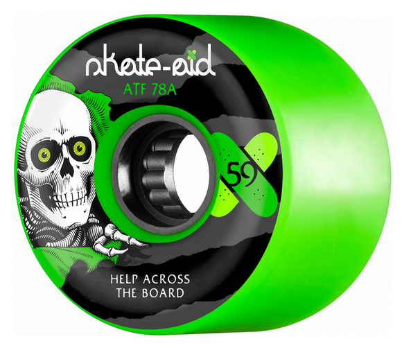 Bones ATF Skate Aid Green 59mm 78a Skateboard Wheels