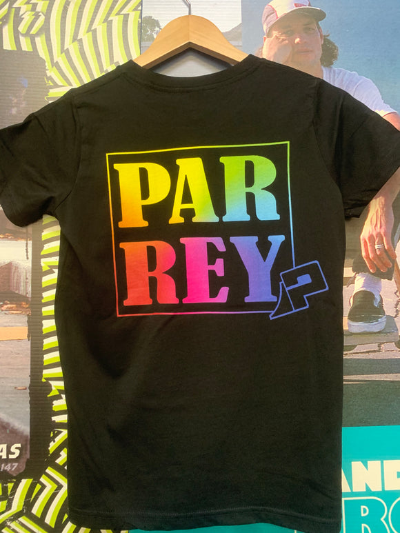 Parrey Shirt Black - Rainbow