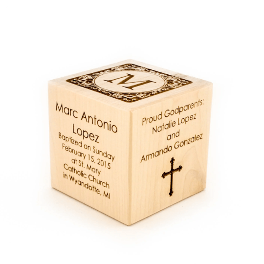 Personalized Baptism Block - 2014