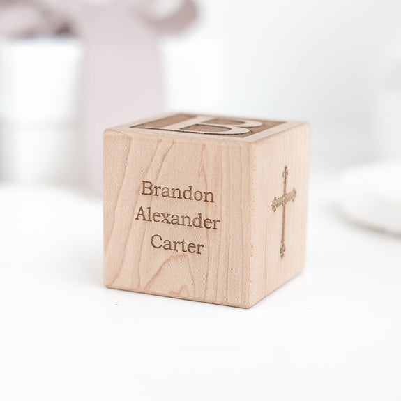 Personalized Baptism Block