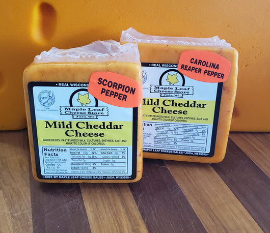 Cheddar- Hot Pepper varieties (8oz size)