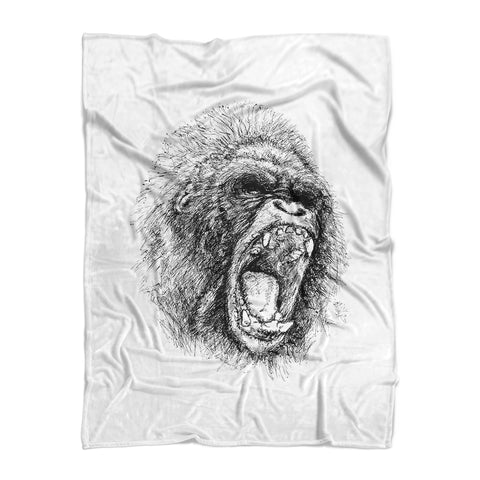 Gorilla Squad Fleece Blanket | 500 LEVEL