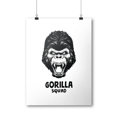 Gorilla Squad Poster | 500 LEVEL